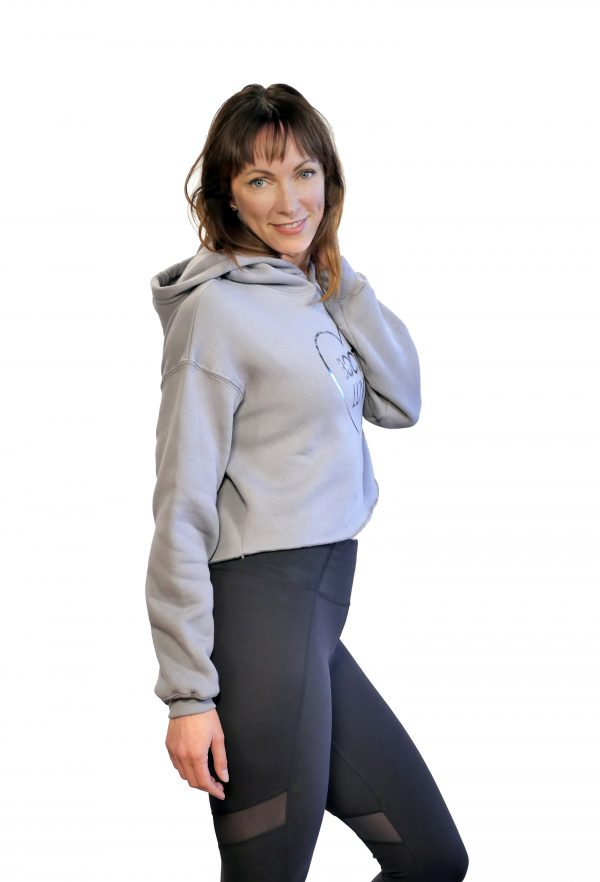 booty luv fitness grey hoodie