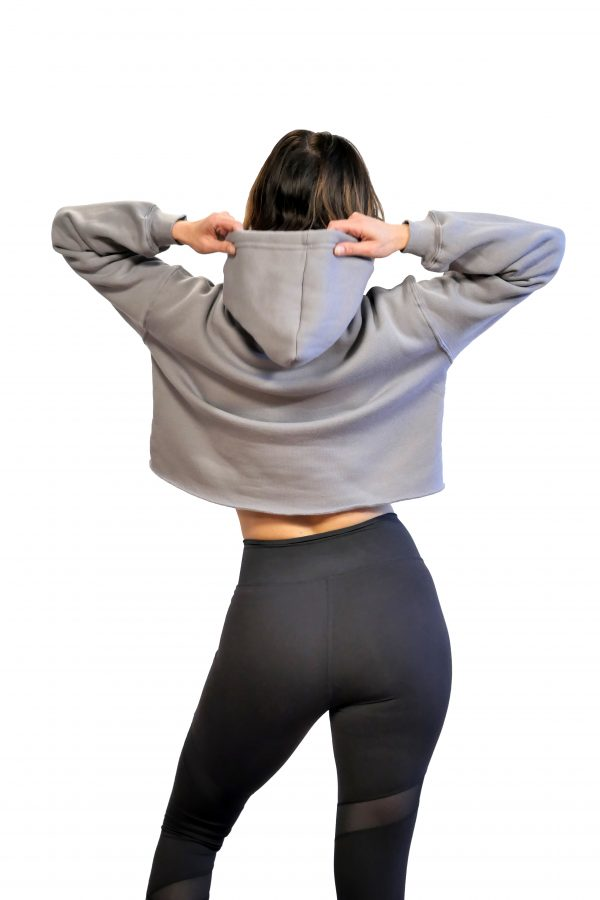 booty luv fitness grey hoodie